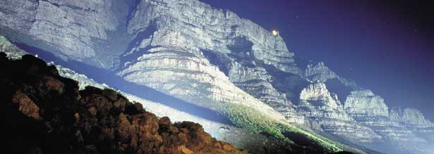 Cape Town Table Mountain by Night